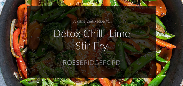 alkaline stir fry with chilli and kale
