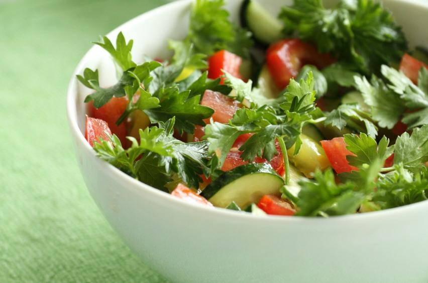 Овощные салатики с фото