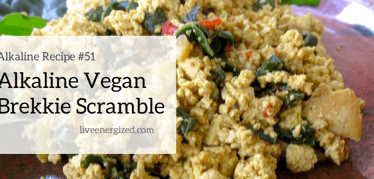 alkaline breakfast recipe: vegan scramble