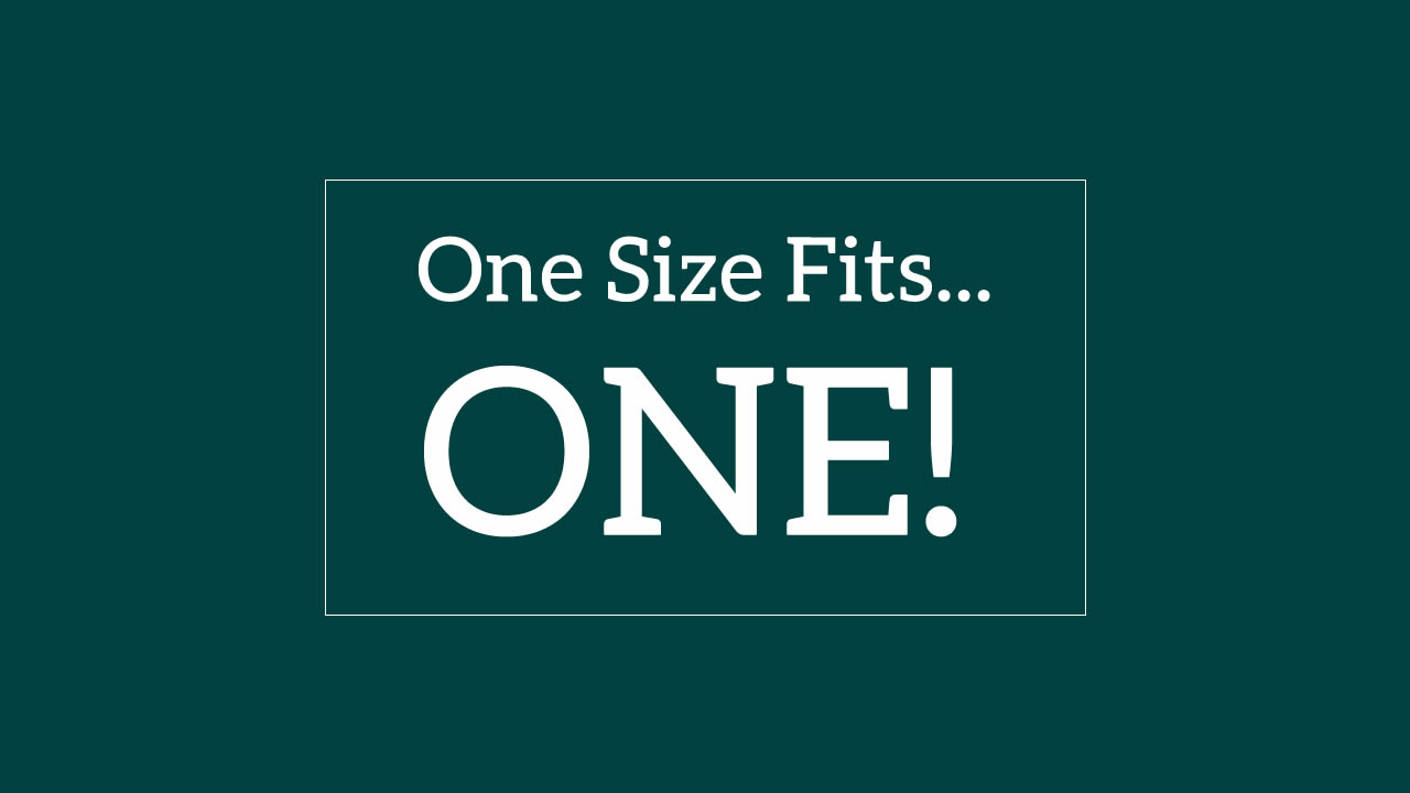 one-size-fits-one - important when you consider why are alkaline food lists different