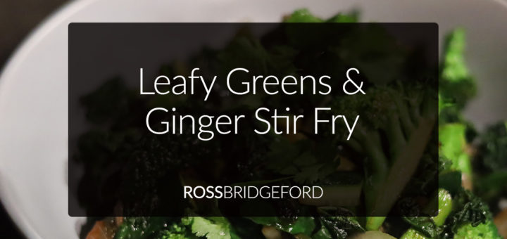 greens and ginger stir fry