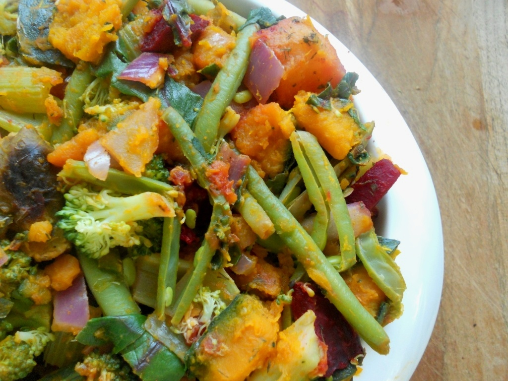 Leafy Greens and Ginger Stir-Fry