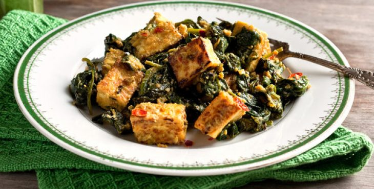 tofu indian spinach