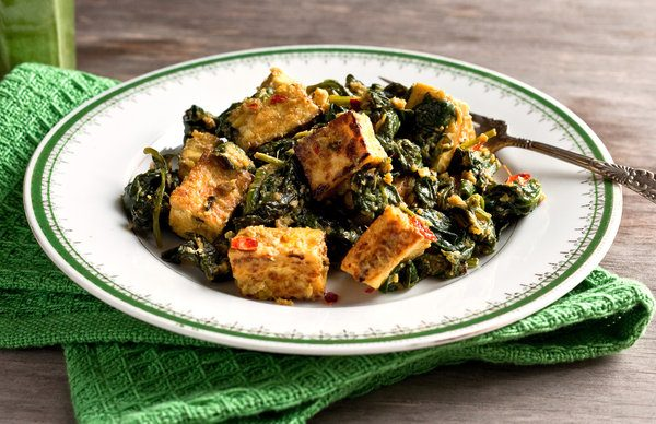 Alkaline diet recipe 116 tofu with indian spinach live energized alkaline diet recipe 116 tofu with indian spinach forumfinder Gallery