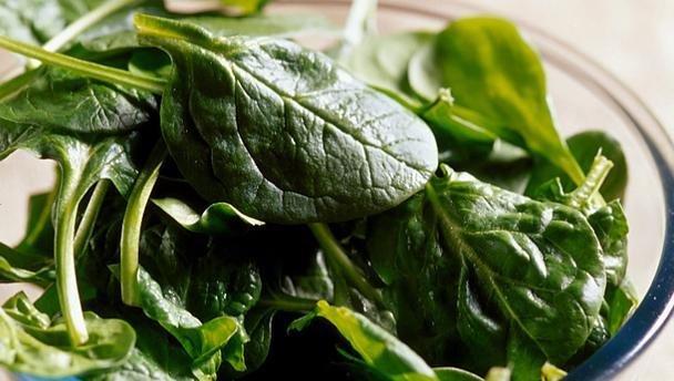 alkaline spinach