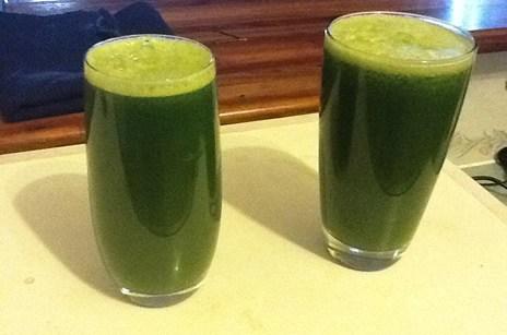 Alkaline Foods Made Into Green Drink