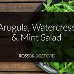 rocket-watercress-mint-salad