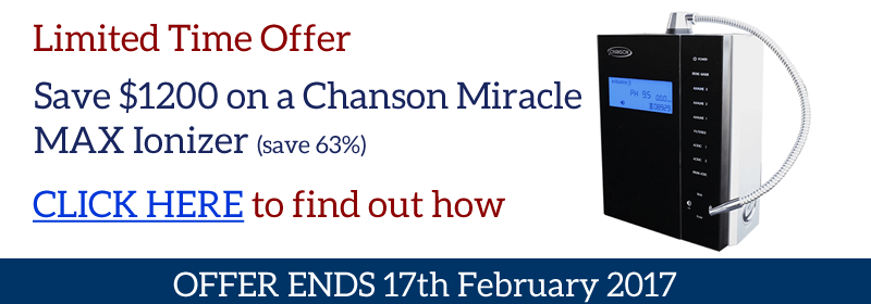 chanson water ionizer offer