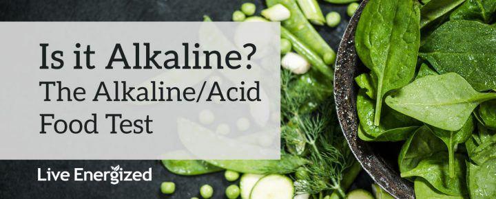 alkaline food test