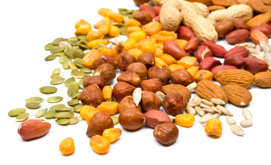 Mixed alkaline nuts and seeds