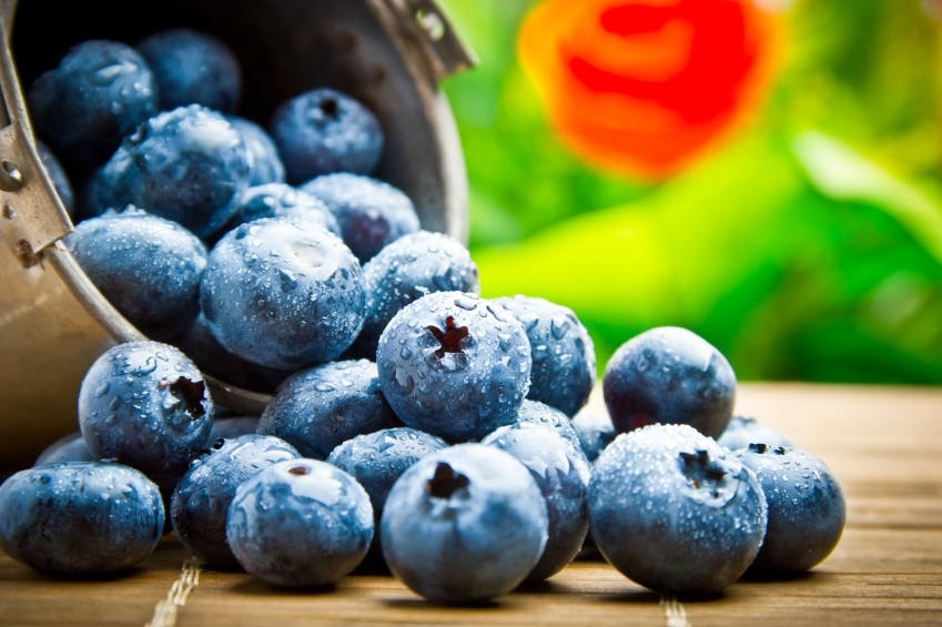 fruit berries in metal small pail