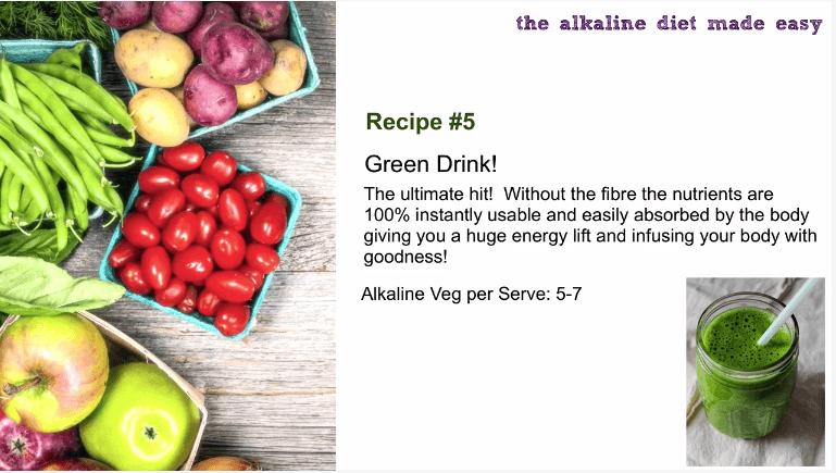 alkaline green drink recipe