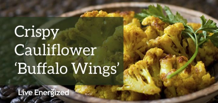 alkaline recipe: cauliflower buffalo wings