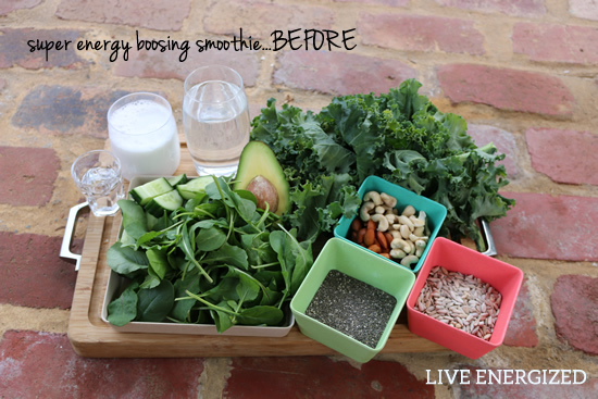 energy smoothie ingredients
