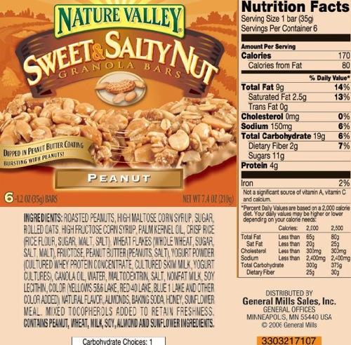 Sweet n Salty Ingredients