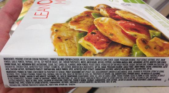 Lean Cuisine Processed Ingredients