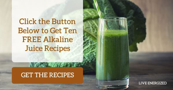 get ten free alkaline juice recipes