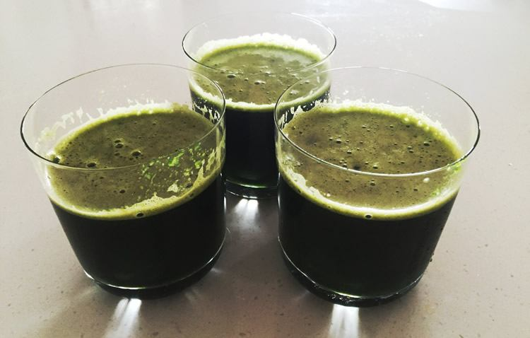 Alkaline Green Juice for Cellulite