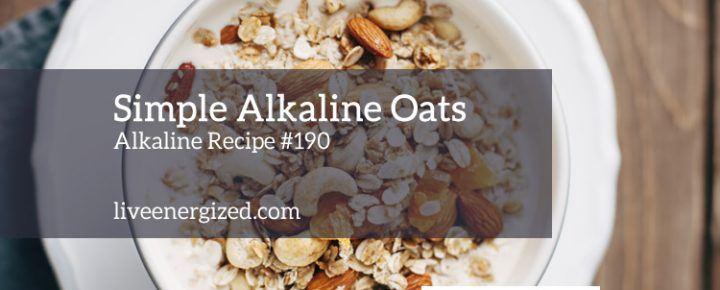 alkaline oats bowl