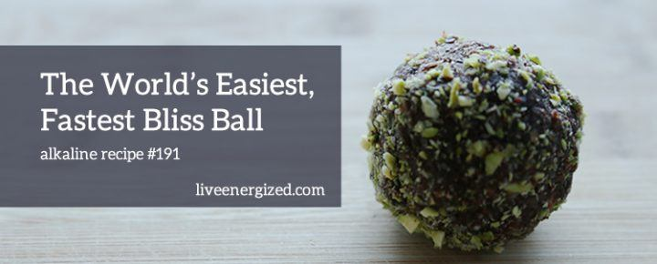 close up image of bliss ball