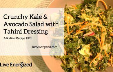 kale and avo salad with tahini dressing recipe