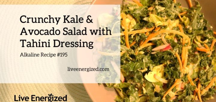 kale and avo salad with tahini dressing recipe