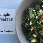 simple alkaline breakfast closeup