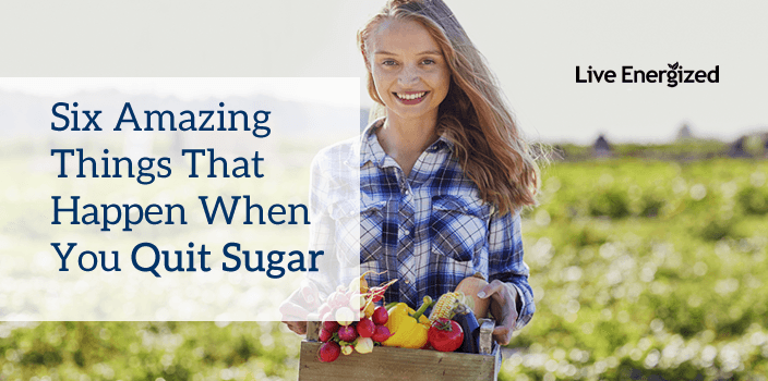 woman who quit sugar with vegetable box