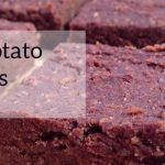 closeup of sweet potato brownies
