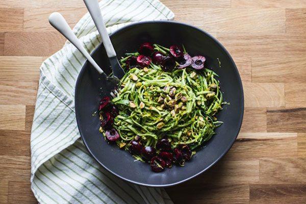 zucchini zoodle recipe - pistachio