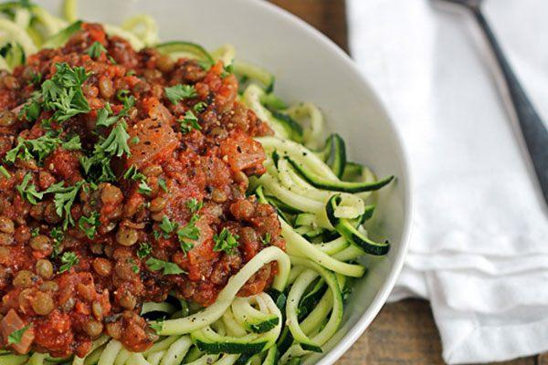 zucchini zoodle recipe - lentil
