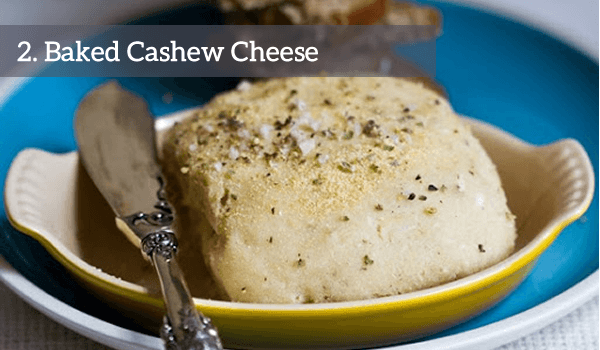 baked cashew cheese