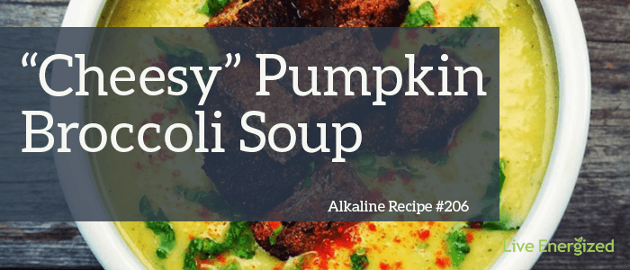 Alkaline recipe 206 cheesy pumpkin broccoli soup live energized alkaline recipe 206 cheesy pumpkin broccoli soup forumfinder Gallery