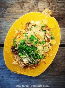 Alkaline Recipe 207 Quinoa Stuffed Spaghetti Squash