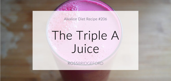 Triple A Juice (Alkaline, Anti-Inflammatory, Antioxidant-Rich)