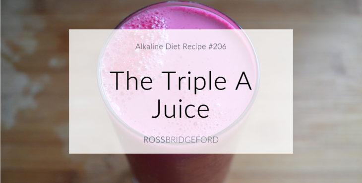 Triple A Juice (Alkaline, Anti-Inflammatory, Antioxidant-Rich)