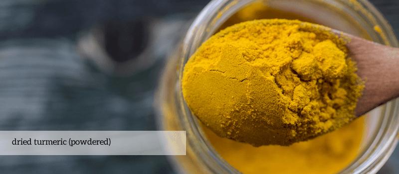 dried turmeric (powdered vs fresh)