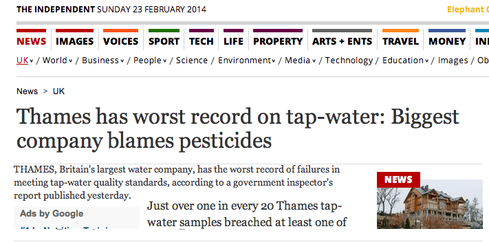 Thames Tap Water Risk