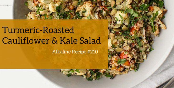 turmeric roasted cauliflower salad