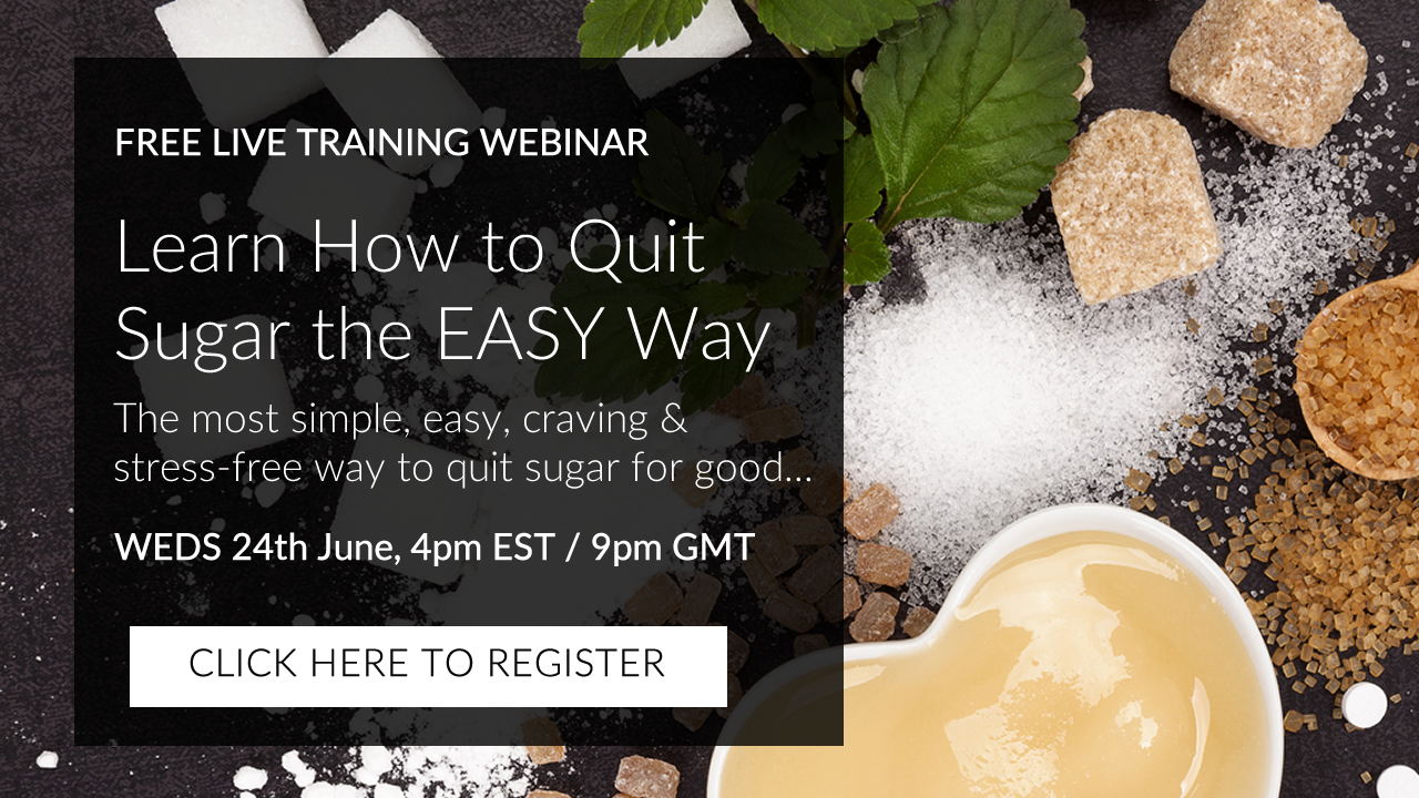 click to register for the quit sugar training