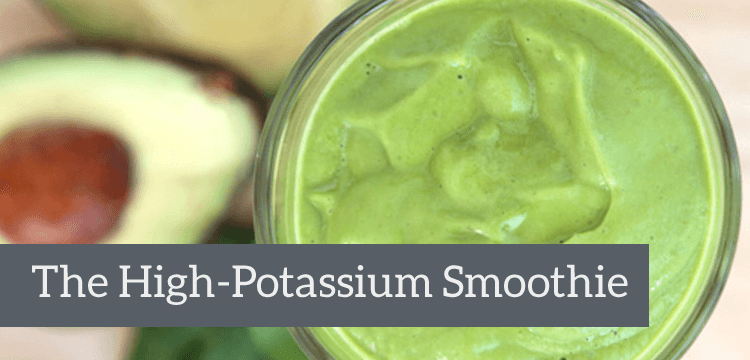 High Potassium Smoothie title