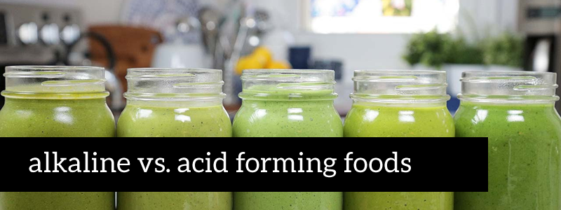 lists of alkaline and acidic foods