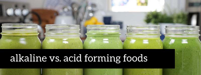 lists of alkaline and acidic foods