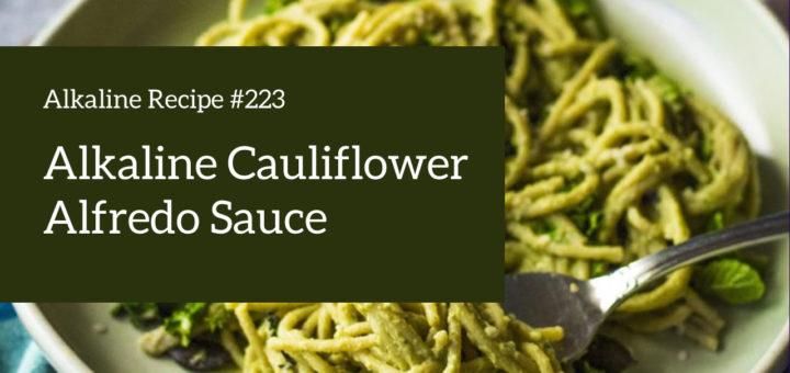 alkaline recipe: alfredo sauce