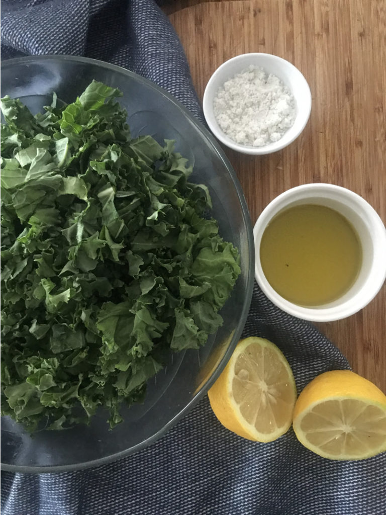 massaged kale ingredients