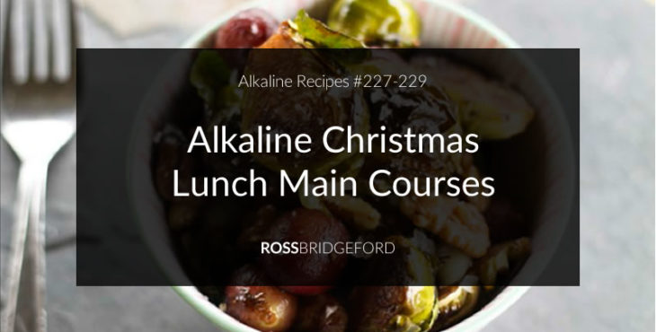alkaline christmas lunch main course