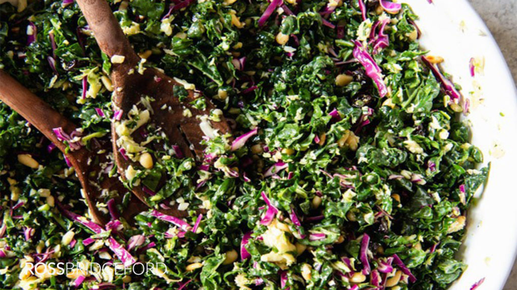 creamy kale shredded salad