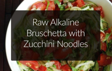raw bruschetta with zoodles
