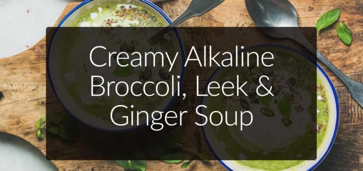 alkaline broccoli soup recipe