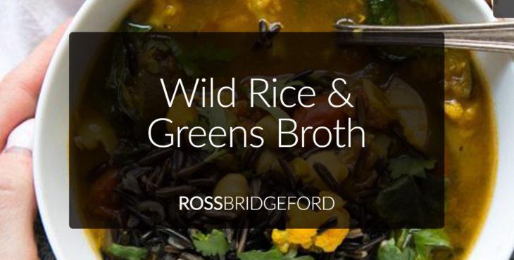 wild rice and greens broth